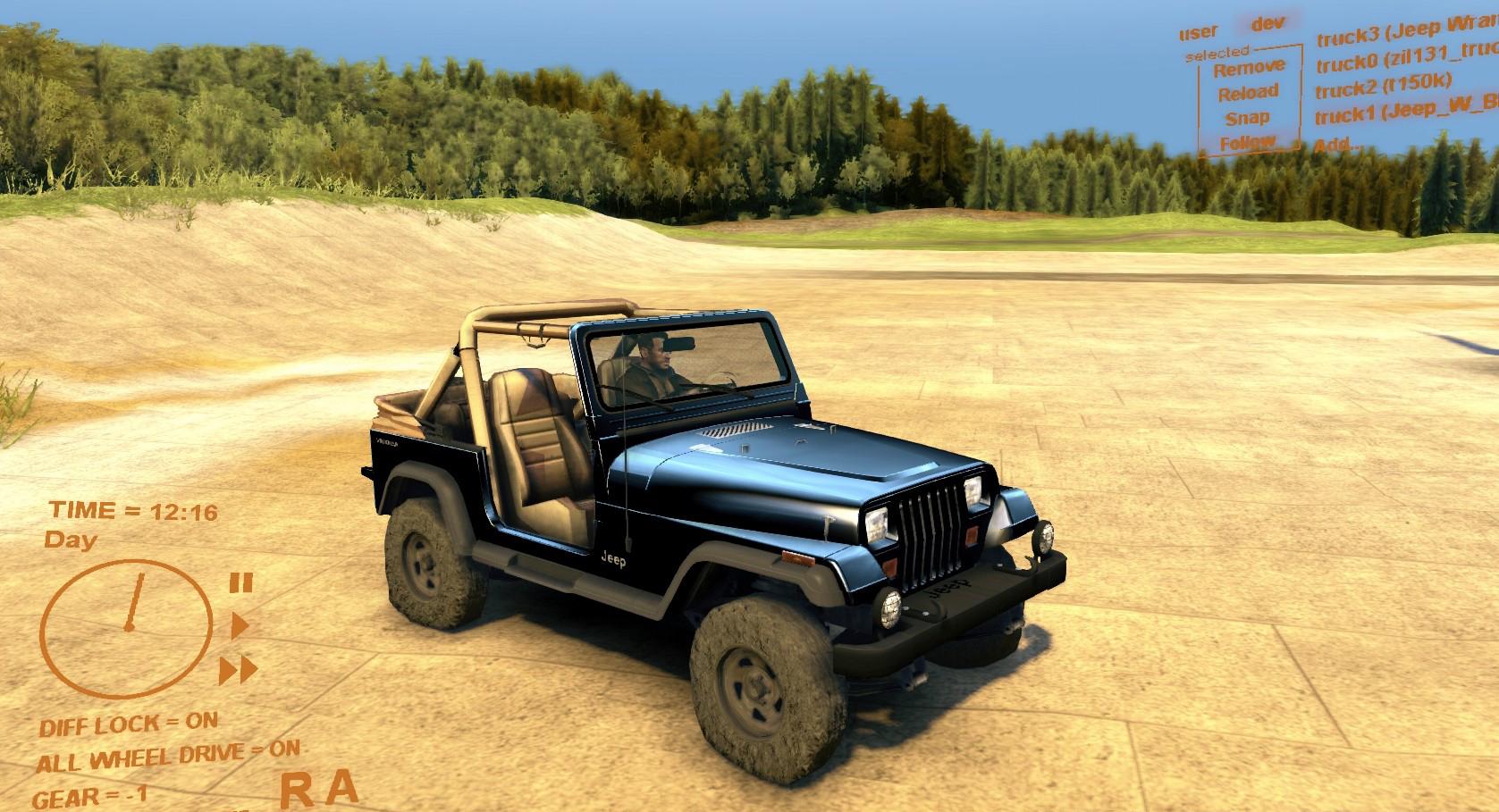 Jeep Wrangler 2 • Spintires mods