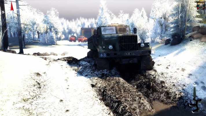 Best Snow Tires For Trucks >> Map Texture First Snow – SpinTires 2014 • Spintires mods | Mudrunner mods | Snowrunner ...